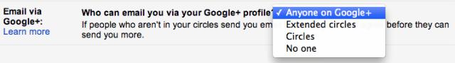Deshabilitar email via Google Plus